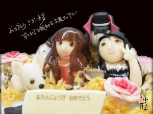 モデルさんの誕生日ケーキ