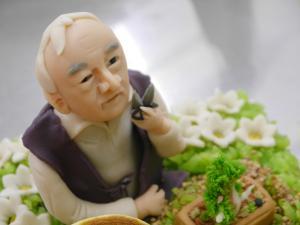 盆栽のお爺さん