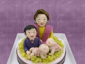 2019.11.12卒寿と双子のお孫さん
